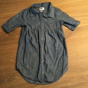 EUC Old Navy denim tunic little girls size 5T